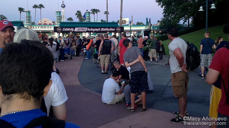line at celebrity fastpass distribution
