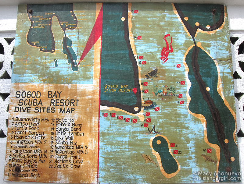 sogod bay dive map Macy Anonuevo