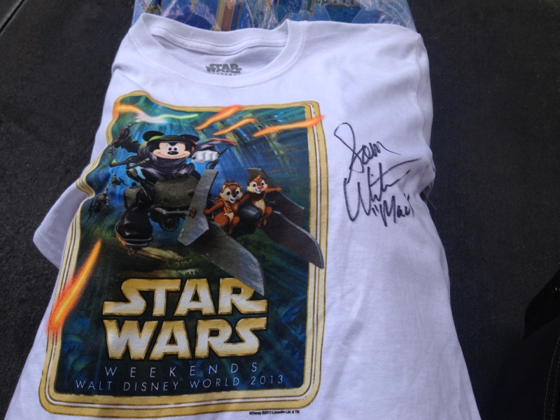 05 May star wars weekends Sam Witwer autograph