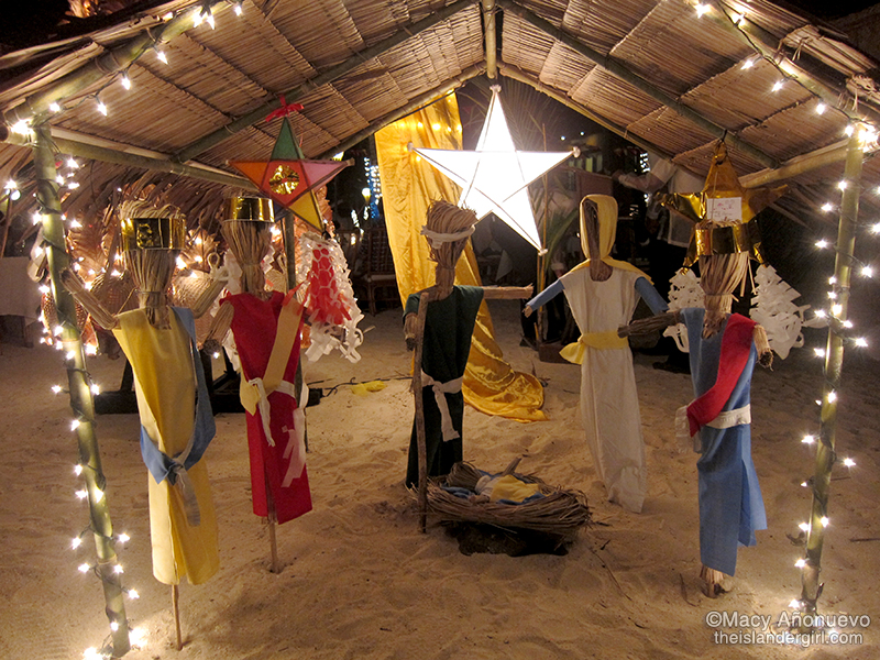 The belen (Nativity scene) made by the guides. Simple but effective.
