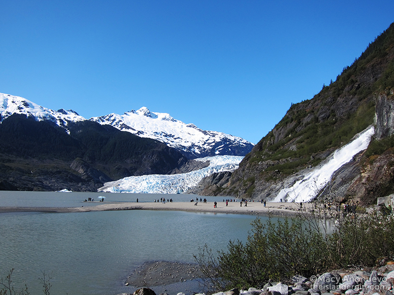 05 mendenhall glacier with nugget falls